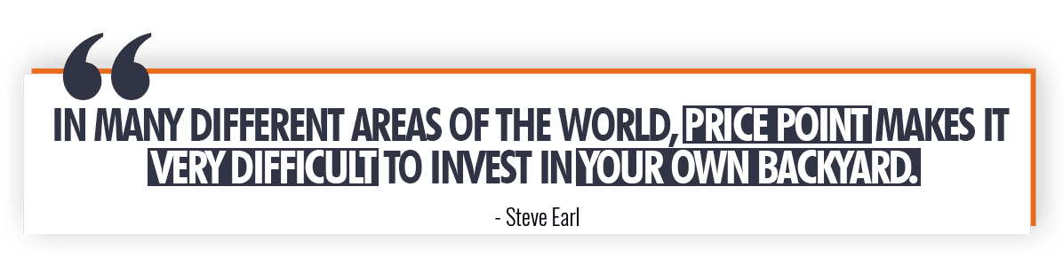 Steve Earl Quote on How Price Point Affects Real Estate Investing