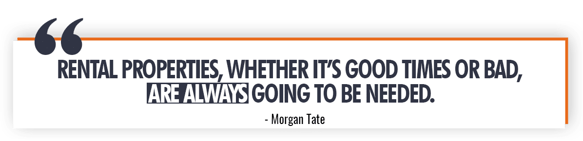 Morgan Tate Quote on People Needing Real Estate