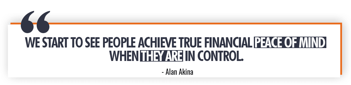 Alan Akina Quote on Personal Finances