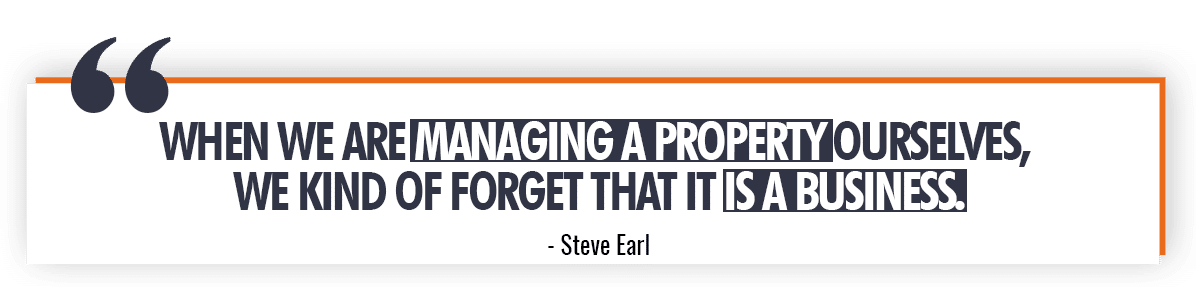 Steve Earl Quote on DIY Property Management