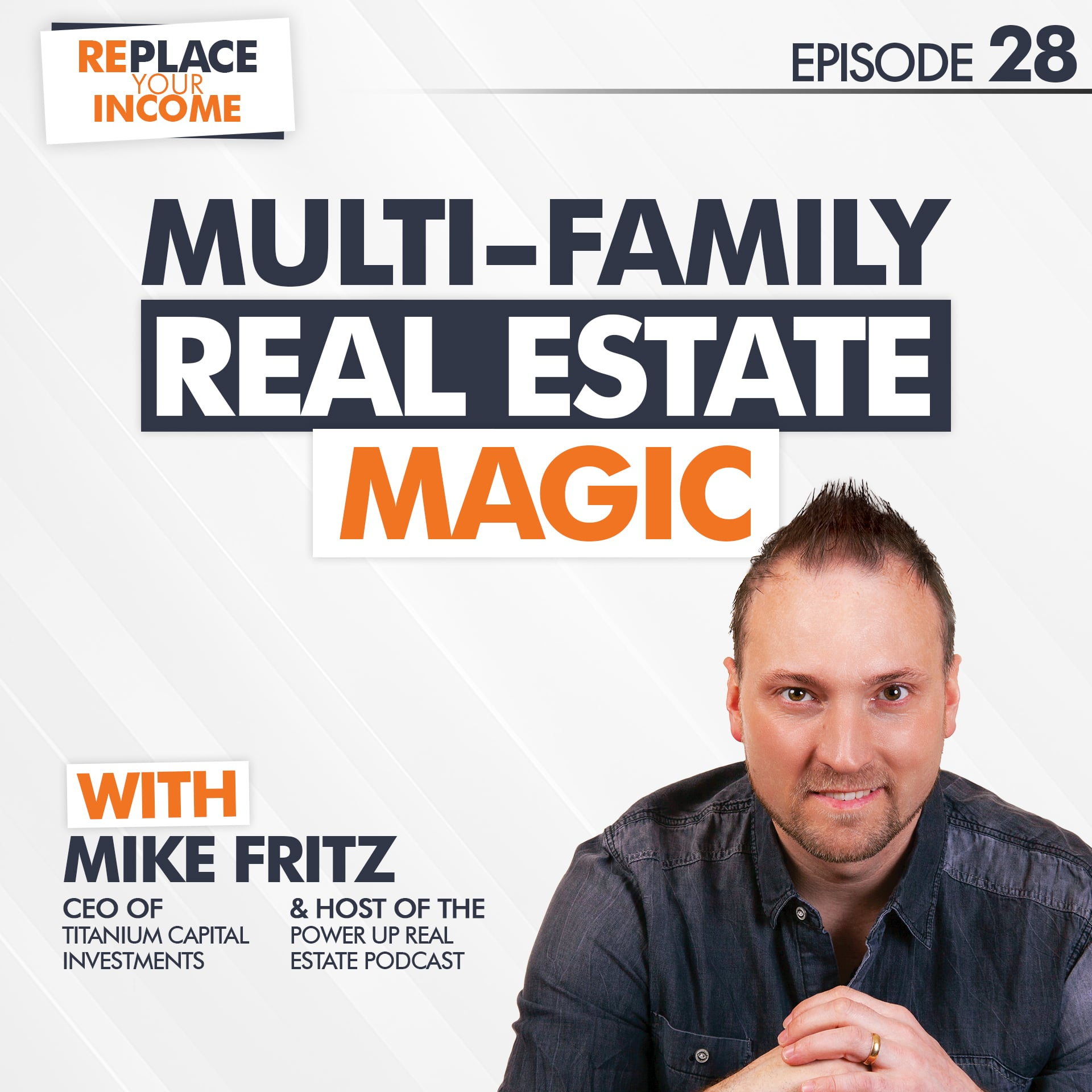 Multi-family Real Estate Magic With Mike Fritz, Episode 28 of the Replace Your Income Podcast